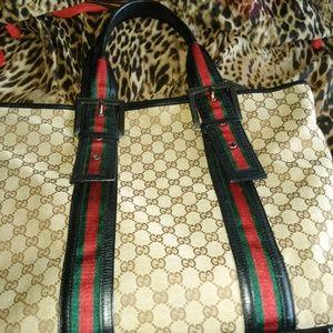 Used Gucci Monogram Large Tote Bag!